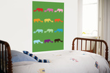 Green Rainbow Rhinos