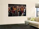 Miami Heat v Cleveland Cavaliers: Shaun Rogers  Drew Carey and Bernie Kosar