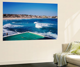 Overhead of Bondi Icebergs Pool and Bondi Beach