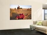 Resting Camels at Dusk in Sam Sand Dunes Near Jaisalmer