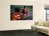 Polynesian Musicians  Tahiti  the Society Islands  French Polynesia