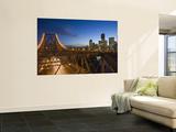 Story Bridge and Riverside Business District in Brisbane at Dusk