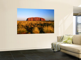 Uluru (Ayers Rock) with Desert Vegetation