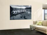 Tranquil Landscape and Pier  Derwent Water  Lake District  Cumbria  England