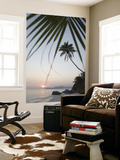 Coconut Tree Sunset Silhouette at Pte Source D'Argent