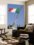 Flag Flying in Front of Neo Classical Ii Vittoriano