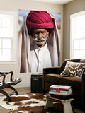 Portrait of Rajasthani Man with Red Turban