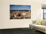 Torre Del Mangia and Piazza Del Campo from the Facciatone  on Top of Museo Del Opera