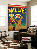 Marvel Comics Retro: Millie the Model Comic Book Cover 34  Getting on a Horse (aged)