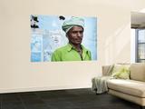 Portrait of Man Wearing Green