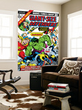 Giant-Size Defenders 4 Cover: Hulk  Dr Strange  Hyperion  Dr Spectrum and Nighthawk Fighting