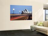Light Trailing under Harbour Bridge with Sydney Opera House Beyond