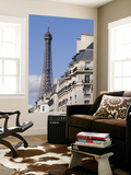 Eiffel Tower and Apartment Building