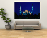 The Blue Mosque of Sultan Ahmed I and Hagia Sophia or Ayasofya  Istanbul  Istanbul  Turkey