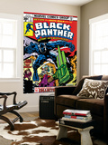 Black Panther 4 Cover: Black Panther  Princess Zanda  Little and Abner Fighting