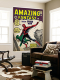 Marvel Comics Retro: Amazing Fantasy Comic Book Cover No15  Introducing Spider Man (aged)