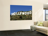 Hollywood Sign at Hollywood Hills  Los Angeles  California  USA