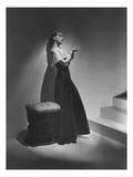 Vogue - December 1934 - Lanvin Gown Posed Beside Stairs