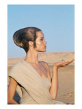Vogue - April 1967 - Veruschka in an Egyptian Desert