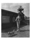 Vogue - October 1934 - Woman Walking Dog in Central Park