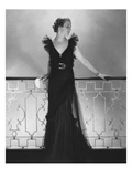 Vogue - July 1934 - Ruffled Black Dress by Lelong