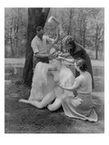 Vogue - June 1941 - Assembling a Mannequin in the Woods