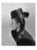 Vogue - July 1942 - Bettina Bolegard Modeling a Hat
