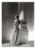 Vogue - September 1934 - Vionnet Dress Modeled by Column