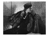 Vogue - September 1935 - Gerda Sommerhoff Models Fur Cape
