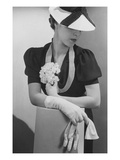 Vogue - April 1936 - Woman Holding Small Bouquet