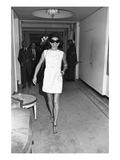 WWD - September 1970 - Jackie Onassis Wearing a Minidress