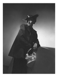 Vogue - March 1936 - Woman in Shadows Leaning on a Bust