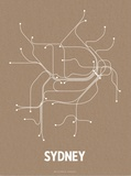 Sydney (Packing Brown & White) Sérigraphie par LinePosters