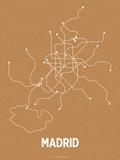 Madrid (Orange & Pearl White) Sérigraphie par LinePosters