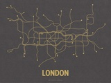 London (Dark Gray & Mustard)