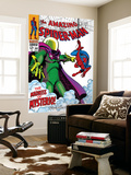 The Amazing Spider-Man No66 Cover: Mysterio and Spider-Man Fighting