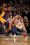 New York Knicks v Los Angeles Lakers  New York  NY  Feb 10: Jeremy Lin  Andrew Bynum