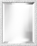White Lacquer Bevel Mirror