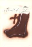 Pied marron Reproductions de collection premium par Antoni Tapies