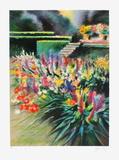 Giverny  parterre de fleurs