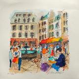 Paris  La Place De La Contrescarpe