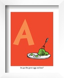 A - Do You Like Green Eggs and Ham (on red)
