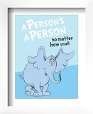 Horton Hears a Who: A Person&#39;s a Person (on blue)