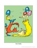Fox in Socks (on green) Reproduction d'art par Theodor (Dr. Seuss) Geisel