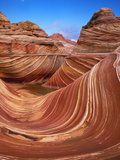 Colorful Sandstone Swirls in the Wave Formation  Paria Canyon  Utah  Usa