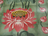 Detail of Temple Lotus Flower Tile Floor  Thai Buddhist Temple  Island of Penang  Malaysia