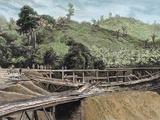 Construction of the Panama Canal Works in Bridge Called 'Alto-Obispo'