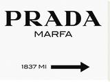 Panneau Prada Marfa Tableau sur toile par Elmgreen And Dragset