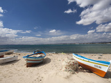 Fishing Boats on Beach  Hammamet  Cap Bon  Tunisia