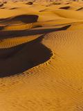 Sand Dunes at Dawn  Grand Erg Oriental Desert  Ksar Ghilane  Tunisia